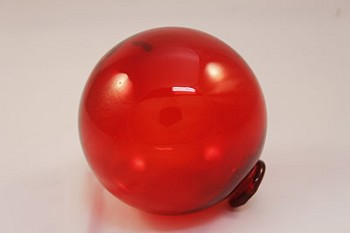 "5"" Red Glass Buoy Float"