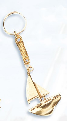 Set of Two Sailboat Keychains