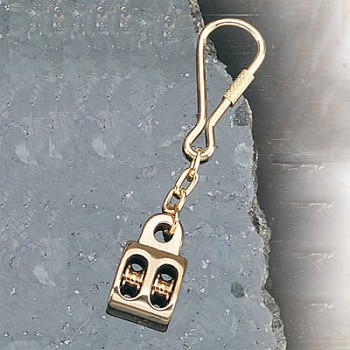 Set of Two Pulley Keychains