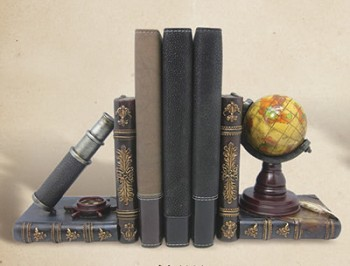 Telescope & Globe Bookends