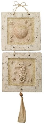 Clam Shell & Seahorse Wall Plaque