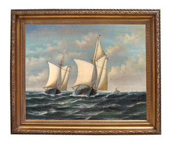 Dauntless, America's Cup by Jacobsen Oil on Canvas Painting