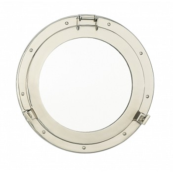 "15"" Nickel Porthole Mirror"