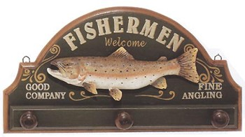 Fishermen Welcome Plaque w/ Pegs