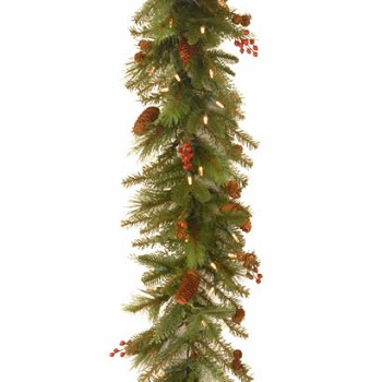 6 Ft. Noelle Christmas Garland with 60 Soft White LED Lights