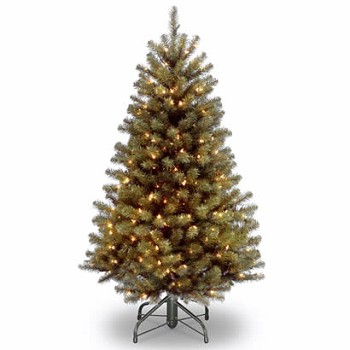4 1/2 Ft. North Valley Spruce Christmas Tree with 200 Clear Lights