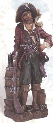 Pirate Leaning on Barrel