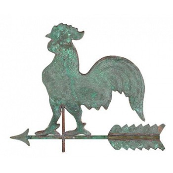 Antique Copper Rooster Weathervane