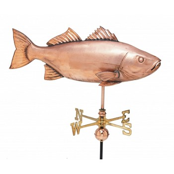 Extra Large Polished Copper Fish Weathervane