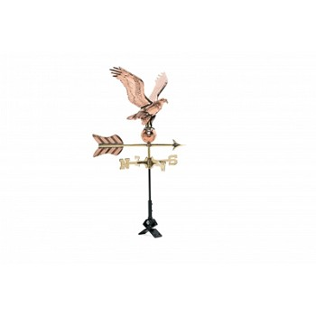 Polished Copper Eagle Cottage Size Weathervane