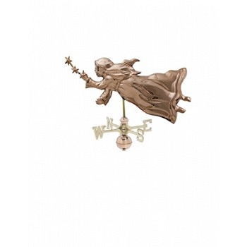 Polished Copper Angel w/ Stars Weathervane