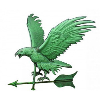 Antique Copper Jumbo Eagle Weathervane