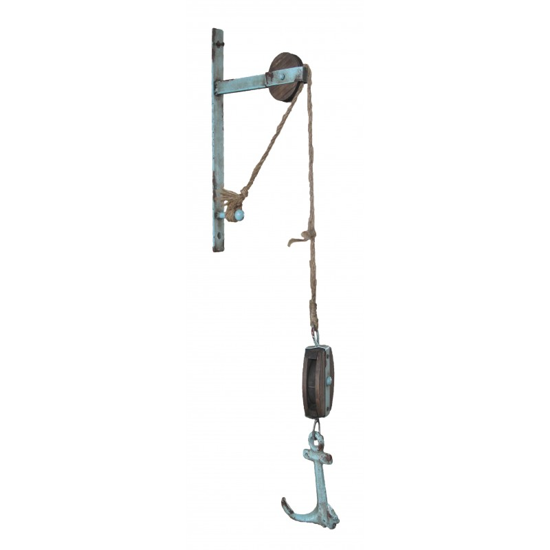 Metal Pulley w/ Anchor