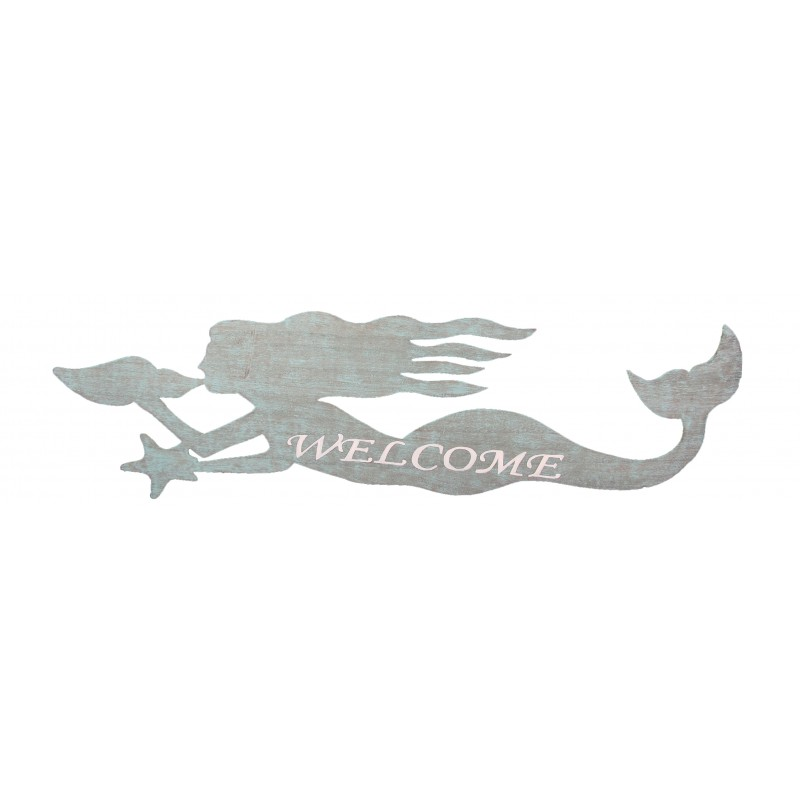 Mermaid Welcome Sign/Wall Plaque
