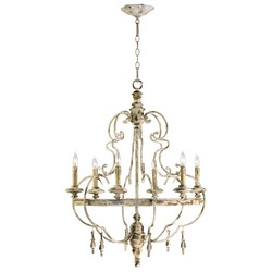 Iron and Wood Chandelier