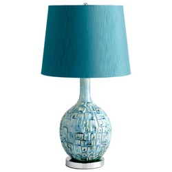 Teal Table Lamp