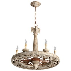 Gray Wood Chandelier