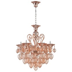 Blush Glass Chandelier