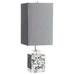 Dark Mother of Pearl Table Lamp