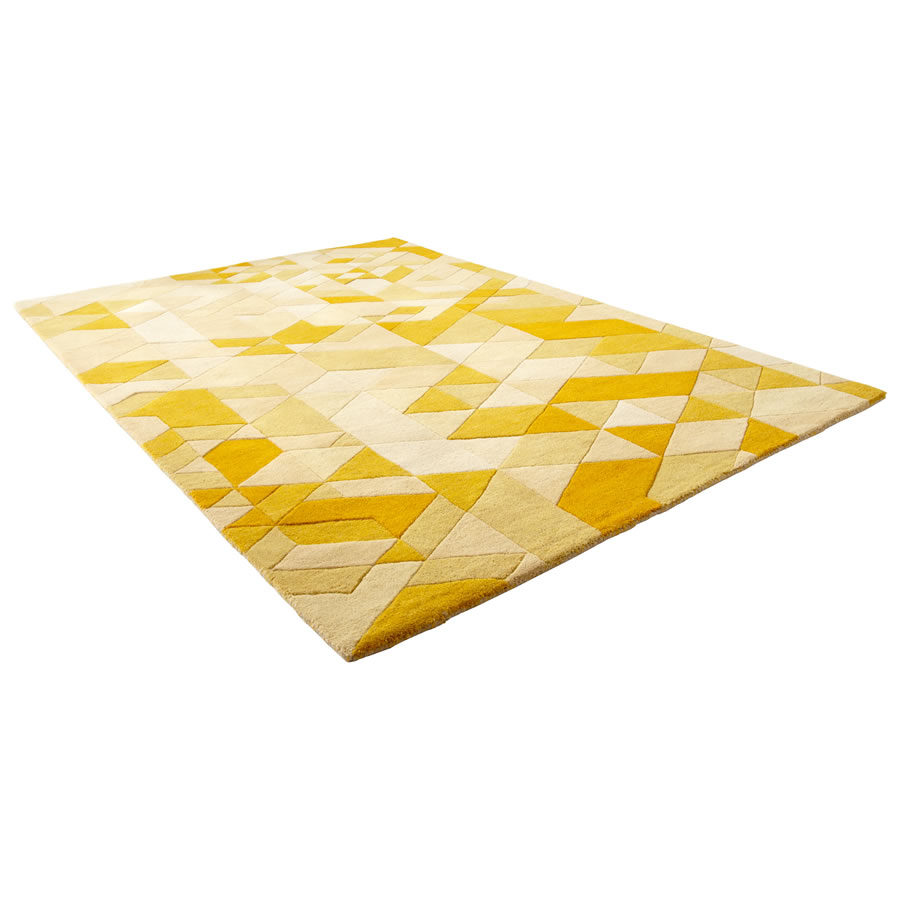 Large Facets Gold Rug