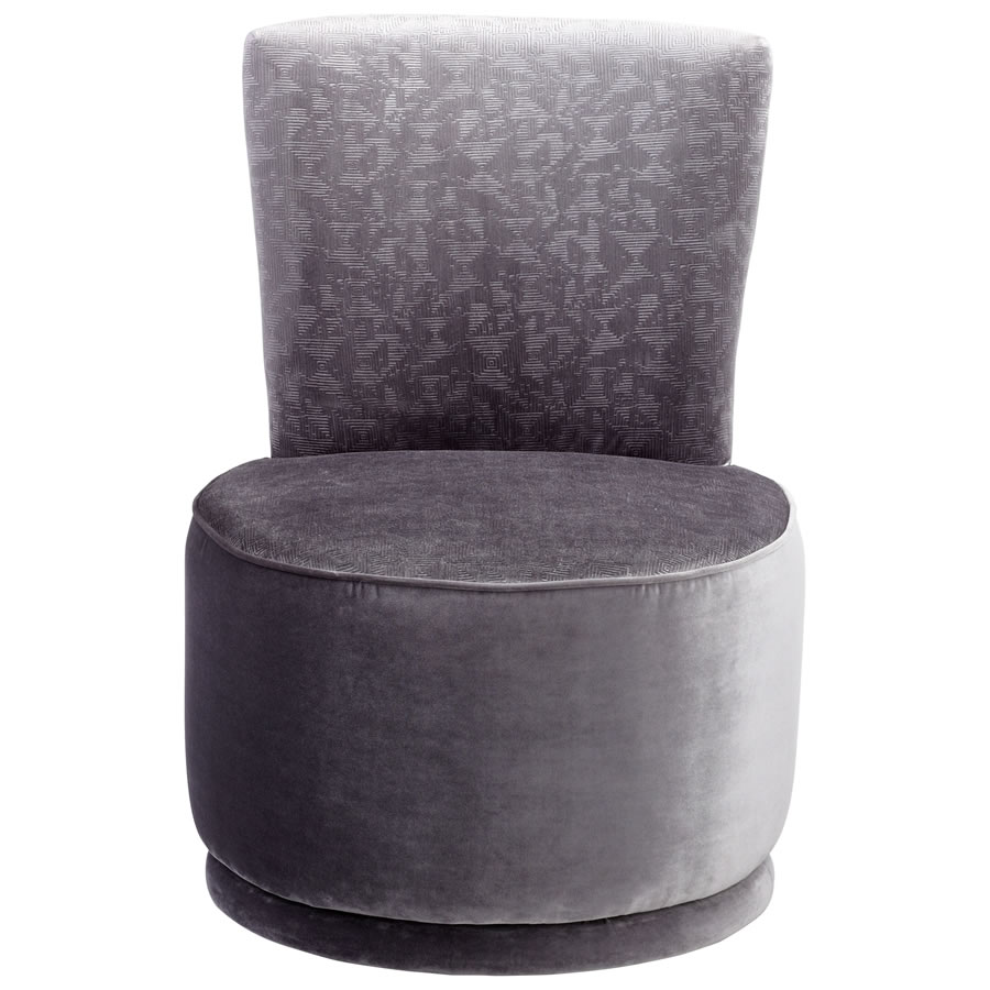 Silver Apostrophe Chair