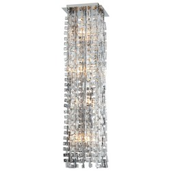 Silver Glass Pendant Light