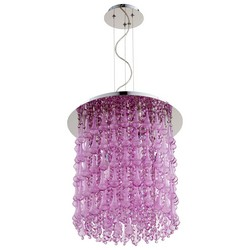 Purple Glass Pendant Light