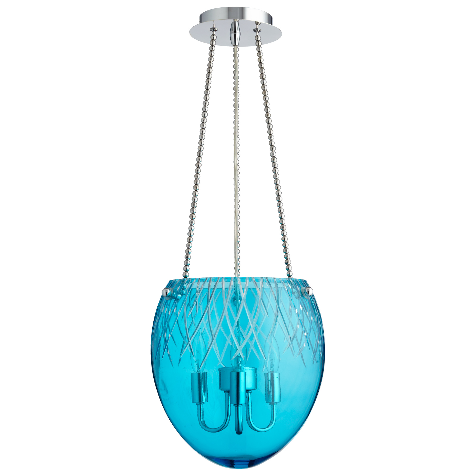 aqua glass pendant light 87867