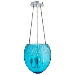 Aqua Glass Pendant Light