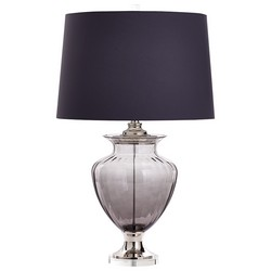 Grey Glass Table Lamp
