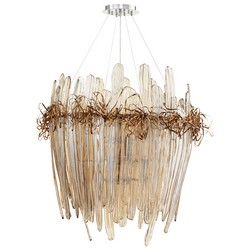 Cognac Glass Chandelier