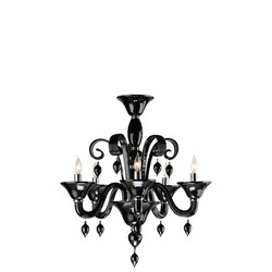 Black Glass Chandelier