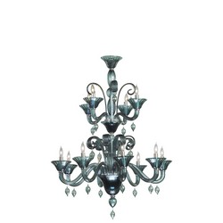 Smoke Glass Chandelier