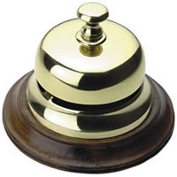 Sailor's Inn Brass Desk Bell