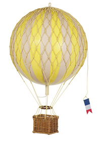 True Yellow Floating the Skies Hot Air Balloon