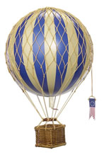 Blue Travels Light Hot Air Balloon