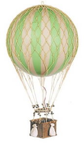 True Green Jules Verne Hot Air Balloon
