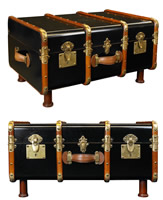 Black Stateroom Trunk/Table