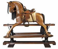 Rocking Horse, Western Saddle