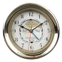 Large Brass Captain's Time & Tide Clock