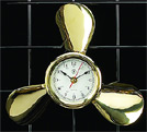 Brass Propeller Quartz Clock