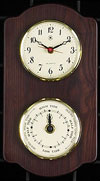 Brass Quartz Clock & Tide Clock on Ash Weather Station