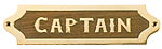 Brass & Wood Captain Plaque