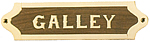Brass & Wood Galley Plaque