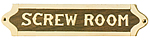 Brass & Wood Screw Room Plaque