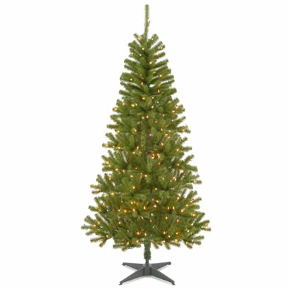 6 1/2 Ft. Canadian Grande Fir Christmas Tree with 300 Clear Lights