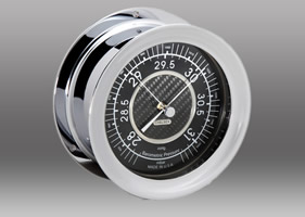 Chelsea Carbon Fiber Barometer in Chrome