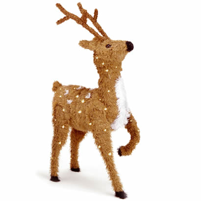 36 In. Prancing Reindeer Christmas Decor w/ Spots & 150 Clear Lights