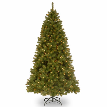 9 Ft. Down Swept Douglas Fir Christmas Tree with 800 Clear Lights