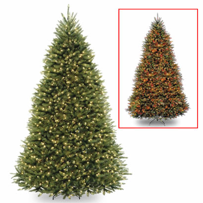 9 Ft. Dunhill Fir Christmas Tree w/ 900 Dual LED Lights & Footswitch